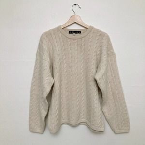 Iscayo Alpaca Cable Knit Sweater Large